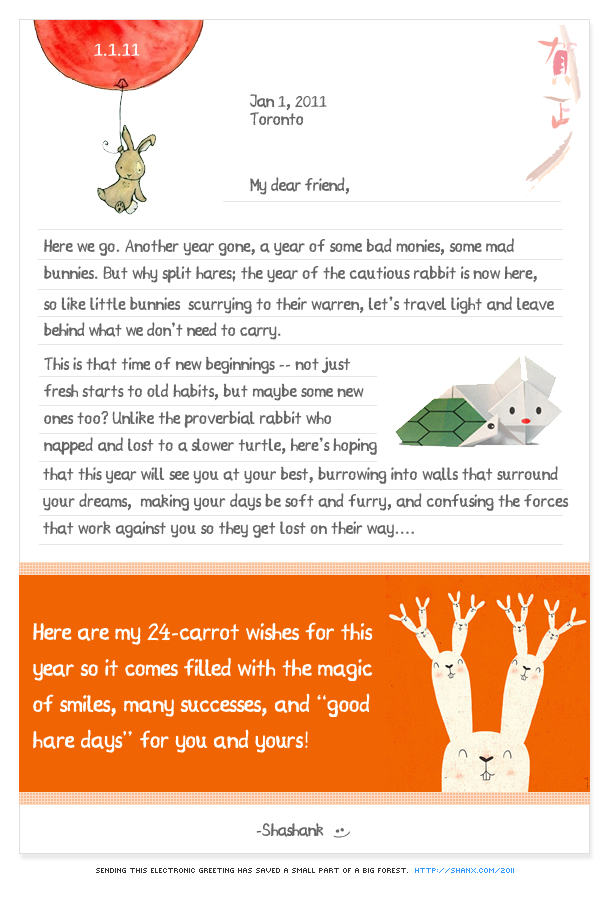 24 Carrot Wishes for 2011!